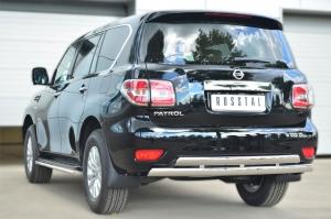 Nissan Patrol 2014- Защита заднего бампера d75х42 (дуга) d75х42 (дуга) PATZ-001735